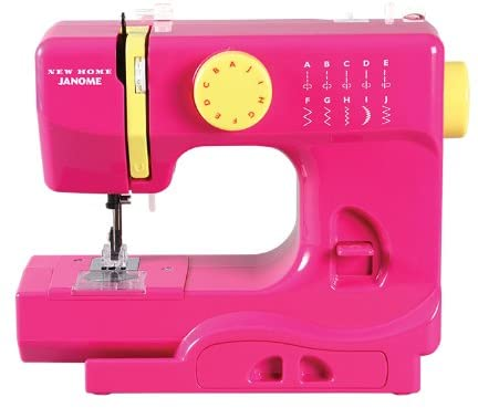 A picture containing appliance, pink, sitting, suitcase Description automatically generated