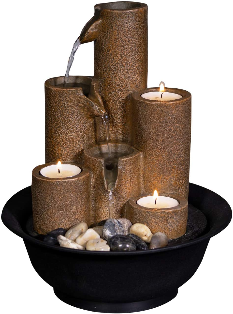 Alpine Tiered Column Tabletop Candles