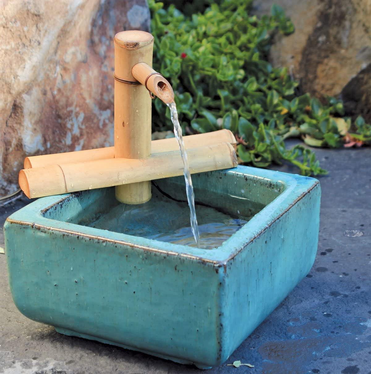 Bamboo Accent Zen Garden Water Fountain