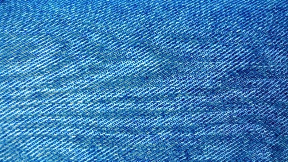 Blue denim fabric
