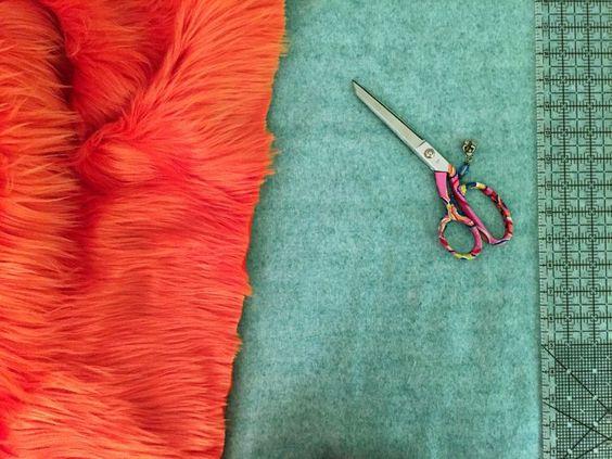 Cutting fake fur fabrics require very sharp shears
