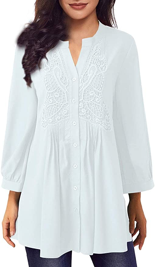 Dress with a variation of notch neckline that falls on shoulders