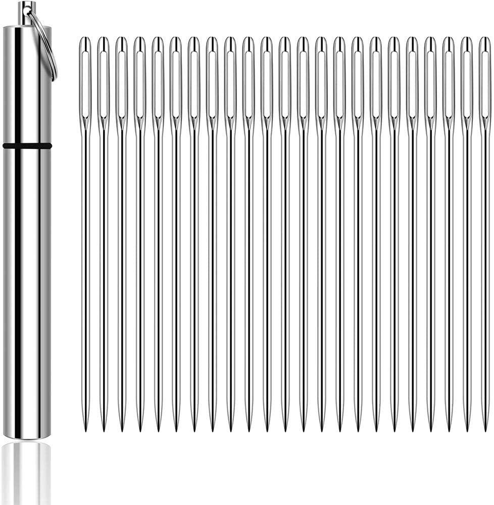 Kyue 1.8 Inch Aluminum Needle Case with 21 Needles