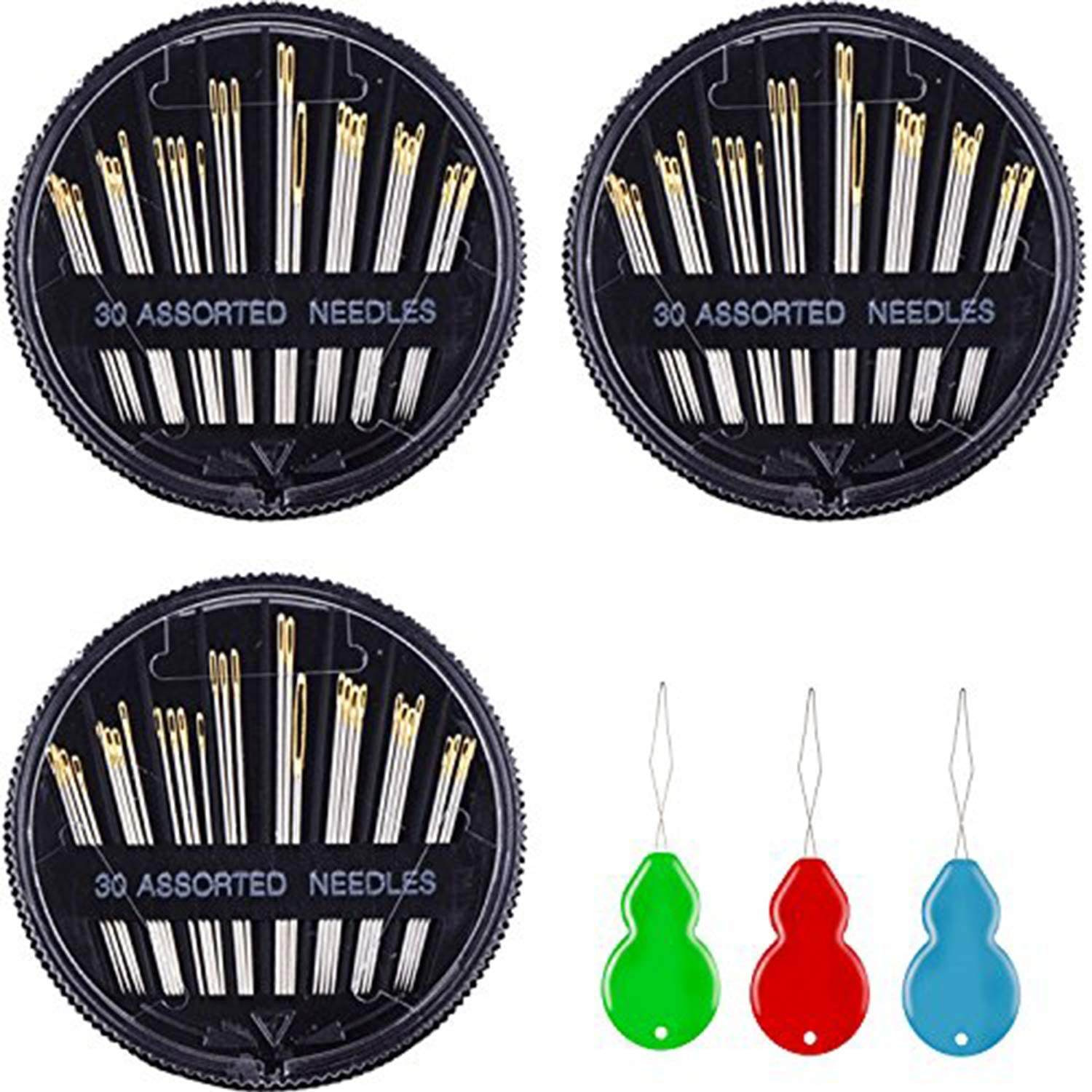 Mudder 30 Count Assorted Hand Needles