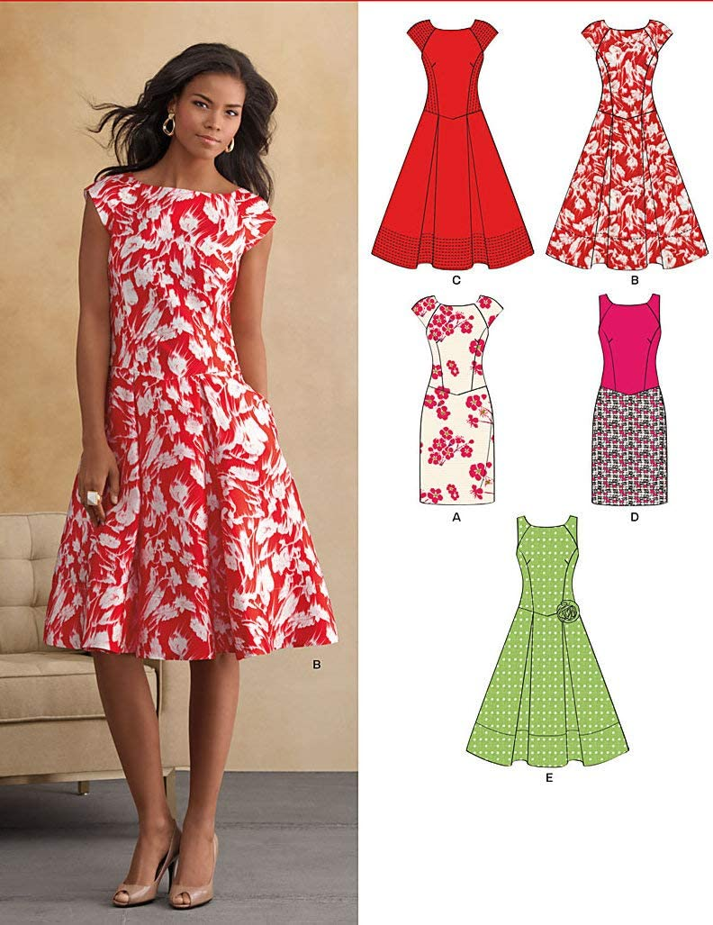 New Look Misses Dresses Sewing Patterns