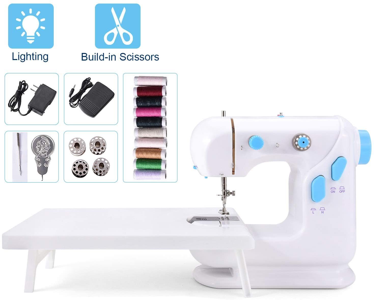 Suteck Mini Sewing Machine - Blue